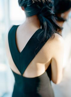 #Bridesmaid   See the wedding on SMP - http://www.StyleMePretty.com/2014/01/03/elegant-nyc-elopement-at-per-se/ Esther Sun Photography