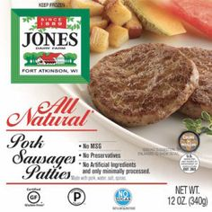 All Natural Little Pork Sausages from Jones Dairy Farm - Whether you use sausage in a recipe or serve it on it's own, Jones pork sausage links and patties are sure to make your daybetter. We never compromise, so you don't have to either. #certifiedpaleo #paleo