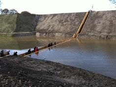the sunken Moses Bridge in the Netherlands