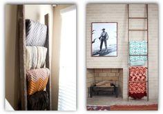 10 ways of using a ladder in home design ||| Идеи для дома: 10 способов полезно использовать лестницу