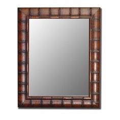 chunky faux bamboo mirror