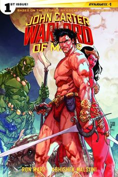 Variant cover for Ron Marz and 's John Carter: warlord Of Mars,out in November. Lines By Bart sears Colors . John Carter : Warlord Of Mars Variant Cover Pulp Fiction, Science Fiction, A Princess Of Mars, John Carter Of Mars, Bd Comics, Sword And Sorcery, San Diego Comic Con, Pulp Art, Sci Fi Fantasy