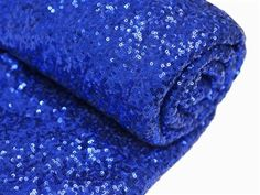 Royal Blue - 4 Yards Sequin Fabric Bolt (12 Feet).  Choose from 15 colors. By Zemboor