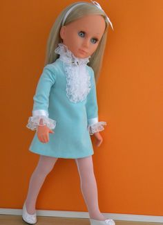 Bettina in her new dress (by me! Creepy Dolls, Vintage Dolls, New Dress, High Neck Dress, Doll Stuff, Euro, Italy, Dresses, Life