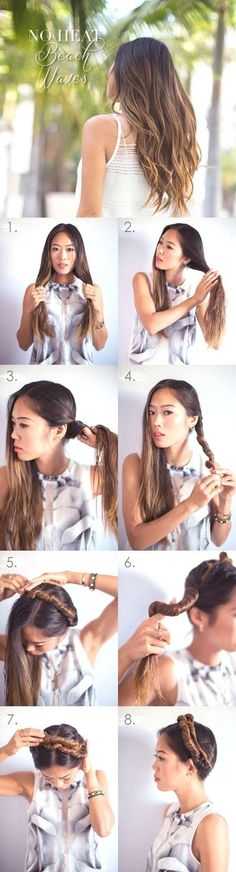 DIY No Heat Beach Waves - because I love sleeping on wet hair, but hate how it looks when I wake up.  Solution?