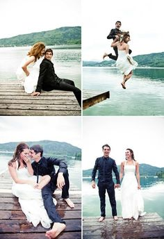 Okay so I'm not sure that I would actually like getting my wedding dress wet, but it's a super cute idea!