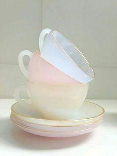 Pretty tea cups.