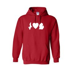 Repin now.   I love michigan hoodie https://royalmajestees.com/product/i-love-michigan-hoodie/   $35.00  #ilovemichigan #hoodie #michigander #mitten #love #state #heart #shirt #clothes #clothing #apparel #fashion