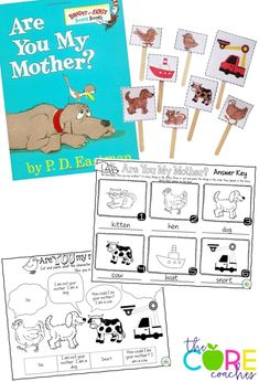 Are You My Mother? sequencing, dialogue, and retelling puppets activities