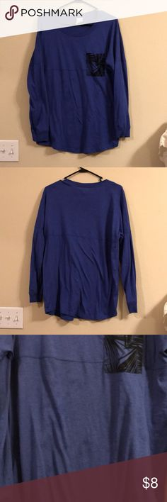 Long Sleeve Victoria Secret Does have a few darker marks, shown in pictures. PINK Victoria's Secret Tops Tees - Long Sleeve