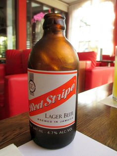 Red Stripe Beer at the Spanish Court Hotel Kingston Jamaica