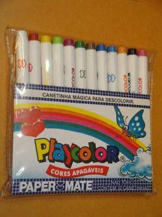 Canetas Playcolor Paper Mate - Anos 80! Raridade!