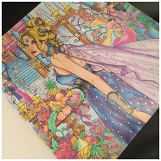 Celaena Sardothien. Throne of glass coloring book. Coloured by Sendaria.