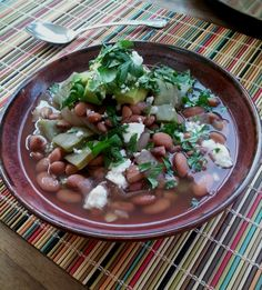 Authentic Mexican Cuisine | Mexican Pintos with Cactus