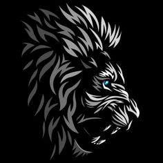 Tribal profile lion - NeatoShop