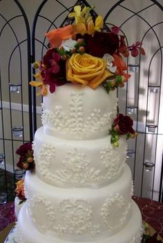 Beautiful Wedding Cake by Especially Created Cakes: 1848 First Street Livermore, CA  925-980-1573  www.especiallycreatedcakes.com Beautiful Wedding Cakes, Street, Desserts, Food, Tailgate Desserts, Deserts, Essen, Postres, Meals