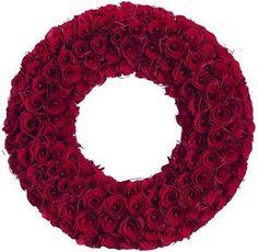 wooden rose wreath