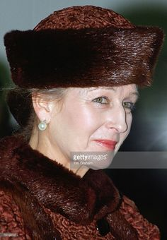 Princess Alexandra of Kent in this fantastic russet fur bumper hat. (Photo by Tim Graham/Getty Images) Princess Alexandra Of Denmark, Princess Margaret, Queen Mary, Queen Elizabeth Ii, Marina Ogilvy, Windsor, Prince Michael Of Kent, George Duke, Royal Colors