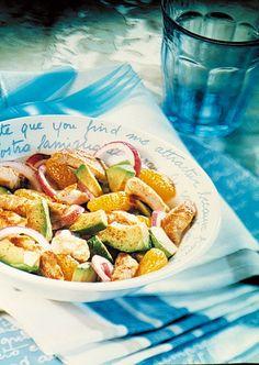 Salade colorée de poulet fermier, une bonne idée de salade composée complète pour les beaux jours ou pour un pique-nique.