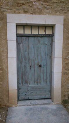 Entr e proven ale carreaux porte tierc e en vieux ch ne portes d 39 entre - Porte d entree provencale ...