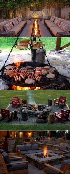 100+ Awesome backyard Fire Pits Ideas 21