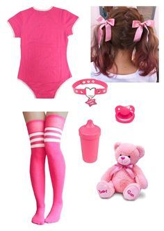 """""""Pink Babygirl"""" by damageddoll on Polyvore featuring Pink, kawaii and ddlg"""