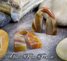 Thunder Egg Agate Pyramids by Oracle Body Jewelry