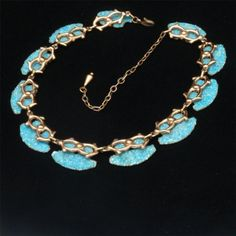 Matisse Renoir Copper Enamel Necklace Vintage