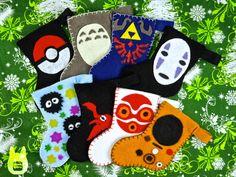 Otaku Crafts: Mini Stocking Ornaments/Giftcard Holders