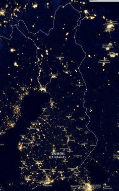Finland from space.