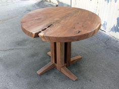 Portfolio - Round Walnut Breakfast Table - Offerman Woodshop