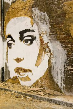 Street Artist: Vhils  I like the Umber color chosen to depict this cild.