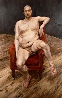 Leigh Bowery by lucien Freud