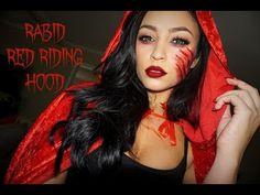 RABID RED RIDING HOOD: HALLOWEEN TUTORIAL - YouTube