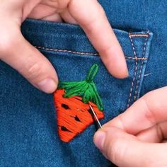 Cute Embroidery IdeasWe are sharing today sewing hacks that will totally love sewing pros and beginners! Pros will find new tricks and hand sewing tips. Sewing Stitches, Embroidery Stitches, Sewing Patterns, Clothing Patterns, Fabric Crafts, Sewing Crafts, Sewing Projects, Paper Crafts, Techniques Couture