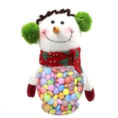 Plastic Candy Jar, Fonxian Christmas Snowman Lolly Contai…