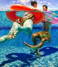 Sir John Lawes Art Faculty: Lorraine Shemesh Swimming Pool Paintings