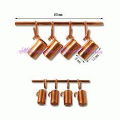Ustensiles de cuisine en métal - 786/136 1/12ème #maisondepoupées #dollhouse #ustensiles #meuble #furniture #miniature #metal