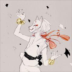 「狐っ子log*」/「おすぎ」の漫画 [pixiv] 狐面