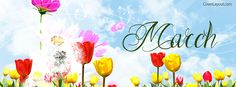 March Flowers Facebook Cover coverlayout.com