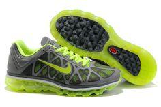 Fake Womens Nike Air Max 2011 Grey Pine Green Sneakers