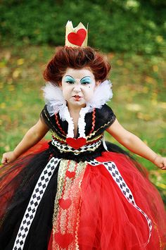 Queen of Hearts tutu dress-Queen of hearts costume- Queen of hearts Dress-Alice in wonderland costume on Etsy, $75.00