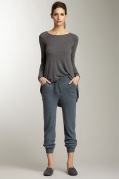 Subtle Luxury Cashmere Drawstring Lounge Pant. day off clothes