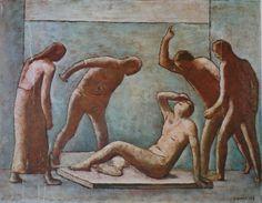 Lite tra statue e modelli : Carlo Carrà