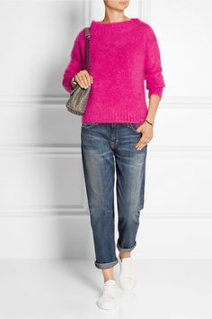 BURBERRY BRIT Mohair-blend sweater