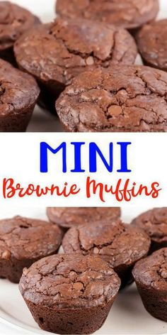 Brownie Recipe With Cocoa, Brownie Muffin Recipe, Brownie Recipes, Brownie Cupcakes, Homemade Cupcake Recipes, Homemade Muffins, Easy Cookie Recipes, Easy Chocolate Desserts, Chocolate Muffins