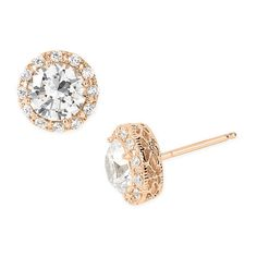 Women's Nordstrom Round 3.48Ct Tw Cubic Zirconia Stud Earrings ($98) ❤ liked on Polyvore featuring jewelry, earrings, nordstrom, round earrings, cz stud earrings, nordstrom jewelry, cubic zirconia earrings and earring jewelry