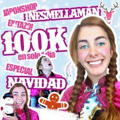 EXITAZO! Mas de 100 k en un solo día en el especial de Navidad con Ana de Froz...perdón @Inesmellaman y @JaponShop! GO! https://youtu.be/EqLzFN8DDfQ