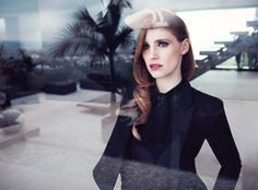 Jessica Chastain smolders in a new Yves Saint Laurent fragrance campaign—see the pic!