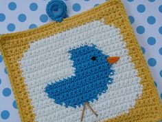 Ravelry: Bluebird Potholder pattern by Doni Speigle